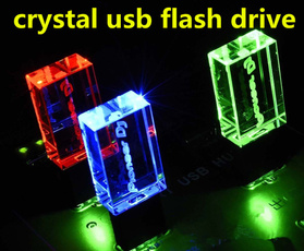 Fashion, led, usbstick, Crystal