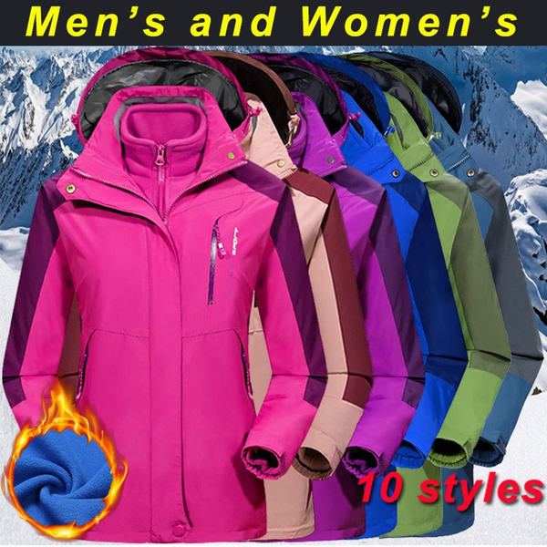 c033988cc Couples Outdoor Jacket Two-piece Thick Warm Coats M-7XL Waterproof ...