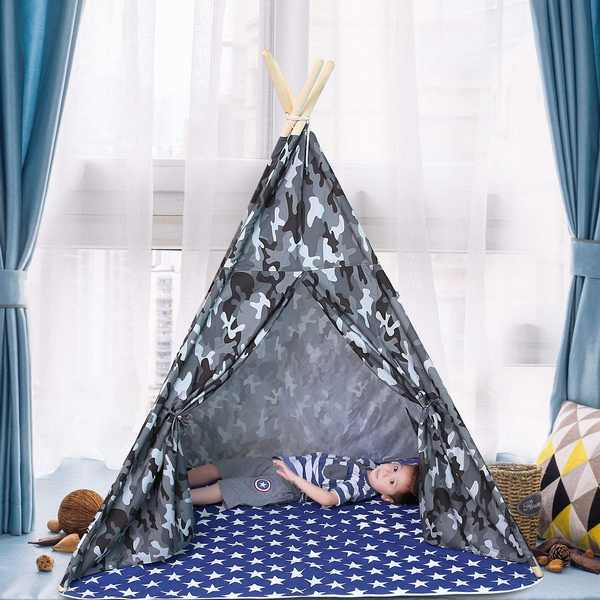 new product ea76e ce46f Unique Teepee Tent Kids, Children Play Tent Teepee Baby Toddlers, Camo Tent  Tipi Boys Indoor Outdoor, Tee Pee Tepee Kids