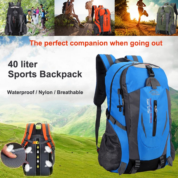 dd24d45baf14 New 40-litre large-capacity sports bag, outdoor ultra-light multi-function  riding bag, unisex waterproof and breathable mesh mountaineering bag, nylon  ...