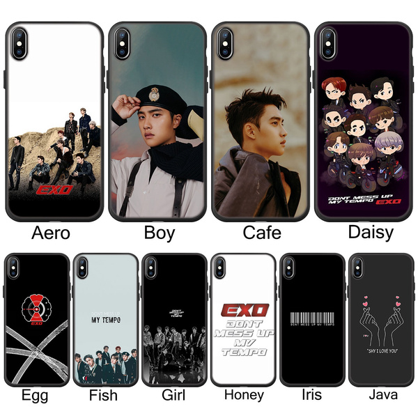 X205 Kpop Exo 5 Don 39 T Mess Up My Tempo Soft Silicone Phone Case For Iphone Xs Max Xr X 10 8 7 6 6s Plus 5 5s Se Tpu Black Cover For