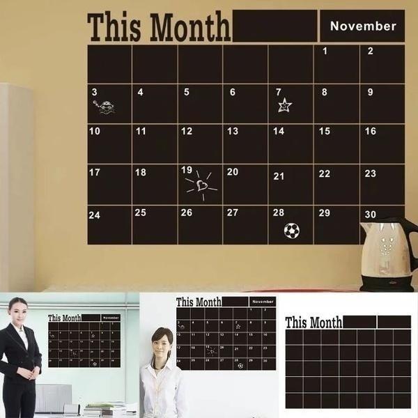 art, Home Decor, wallstickercalendar, calendarplanner