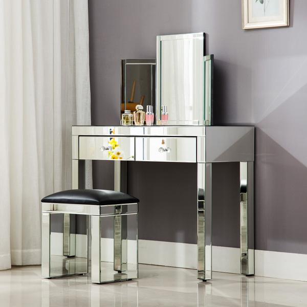 Mirrored Table Vanity Make Up Desk Dressingmirror