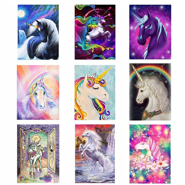 Unicorn DIY 5D Diamond Painting Embroidery Cross Crafts Stitch Kit Decor Art