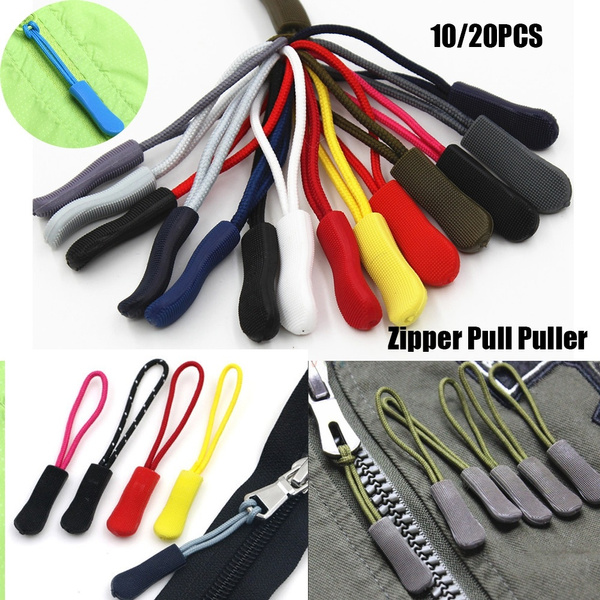 10 x ZIPPER PULL PULLERS REPLACEMENT BROKEN ZIP CORD ENDS LOCK FOR BACKPACK