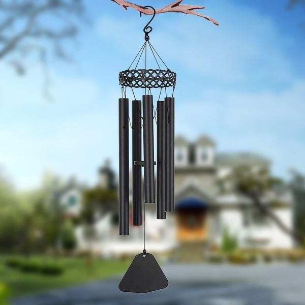 Outdoor Wind Chimes 5 Tuned Metal Tubes Amazing Grace Music Sound Balcony Decor
