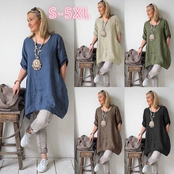 short sleeve dress, solidcolordre, Spring, Dress