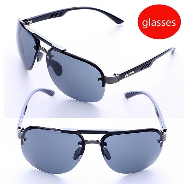 4b353b184ed7 Rimless Sunglasses Fashionable Personality Glasses Sunglasses Men s ...