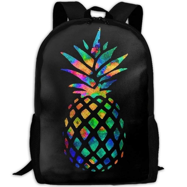 Pineapples Printed Laptop Backpack High School Bookbag Casual Travel Daypack