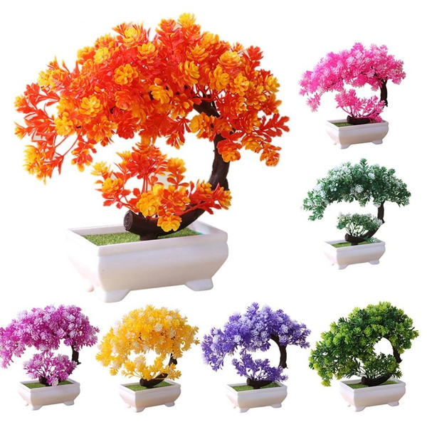 225 & Artificial Plant Tree Bonsai Fake Potted Ornament Home Bedroom Hotel Garden Decor Gift