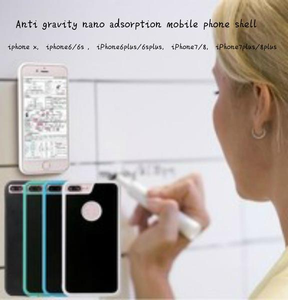 2019 new anti-gravity mobile phone case iPhone nano-adsorption mobile phone  shell anti-fall creative
