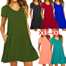 Mini, short sleeve dress, Summer, plus size dress