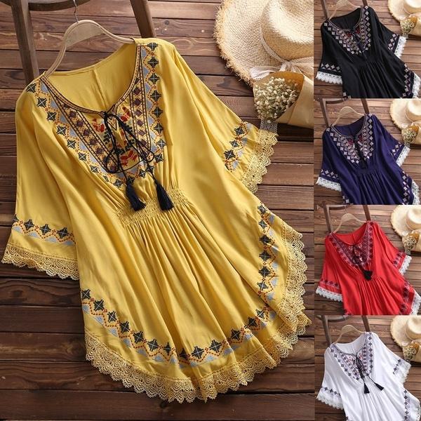 blouse, Bat, topsamptshirt, Lace