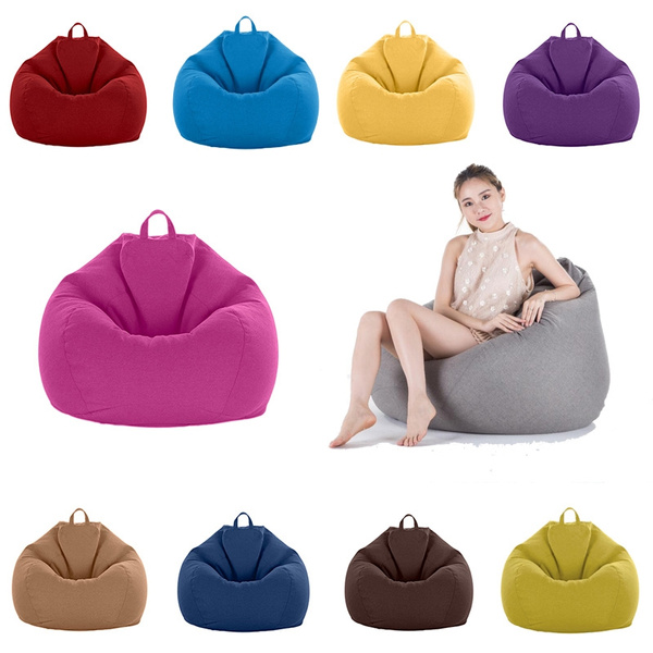 Admirable Solid Color Large Bean Bag Cover Only Home Toys Clothes Pillow Storage Bag Home Organizer Uwap Interior Chair Design Uwaporg