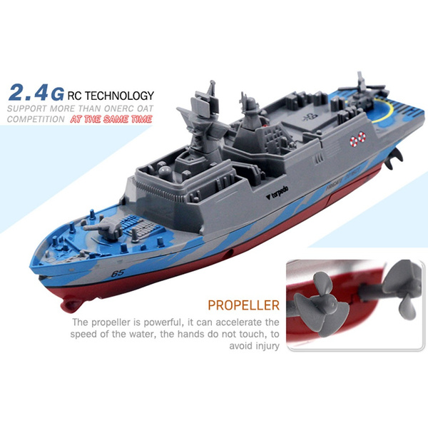 2 4GHz Remote Control Ship Aircraft Carrier RC Boat Warship Battleship NEW