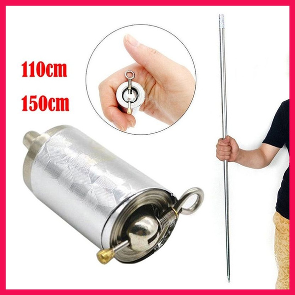 Monkey King's Golden Hoop Stick MAGIC POCKET STAFF Portable Martial Arts  Metal Bo Staff High Quality 110CM 150CM