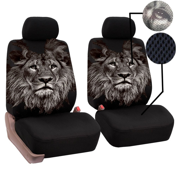 Wish | 2019 NEW Creative Lion Printed Universal Car Seat Covers Auto Interior Decor
