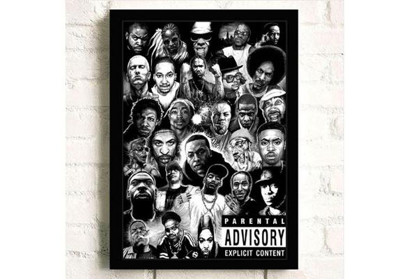 Y1401 Art Wall Poster 2pac Tupac Rap Hip-Hop Singer Rapper Music Singer Star