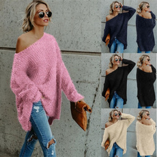 camisola, Plus Size, knitted sweater, Long Sleeve