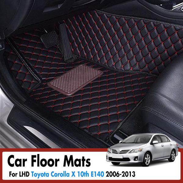 Car Floor Mats For Toyota Corolla X 10th E140 2006 2013 Leather