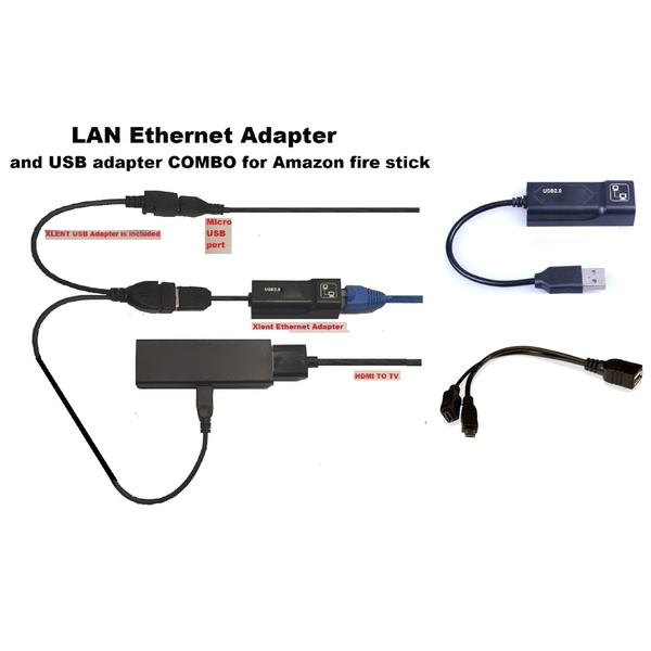 Buffering Reducing LAN Ethernet Adapter Cord for AMAZON FIRE TV 3 or STICK