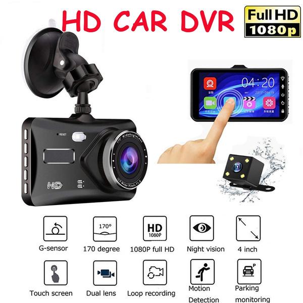 4/'/' Car DVR Dual Lens HD 1080P Dash Cam Video Recorder Camera Touch Screen New