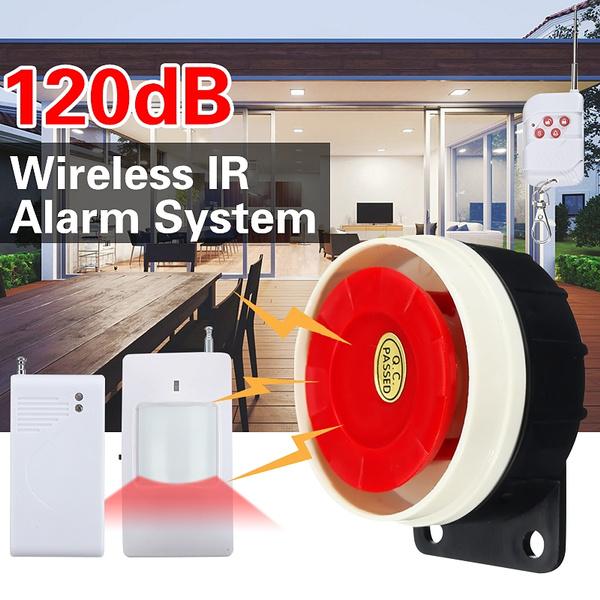 Home Security System Indoor Outdoor Weather-Proof Siren Window Door Sensors  Motion Sensor Alarm with Remote Control more DIY, Wireless Home Hotel