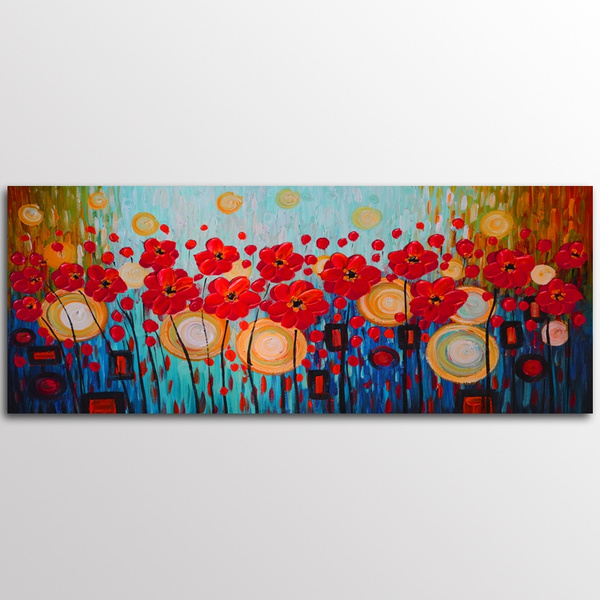 Modern Art Flowers Art Canvas Painting Picture Print Home Wall Decor Unframed