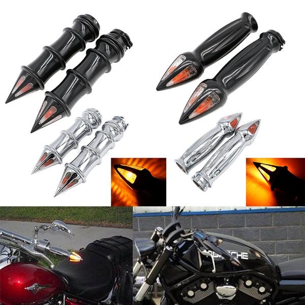 "Hand Grips 1/"" 25mm For Harley Softail//Dyna Wide Glide//Kawasaki Vulcan 1500 Black"