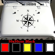 Car Sticker, Hood, Compass, Cars