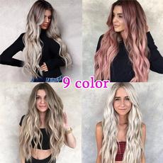 Black wig, wig, hairstyle, longwavywig