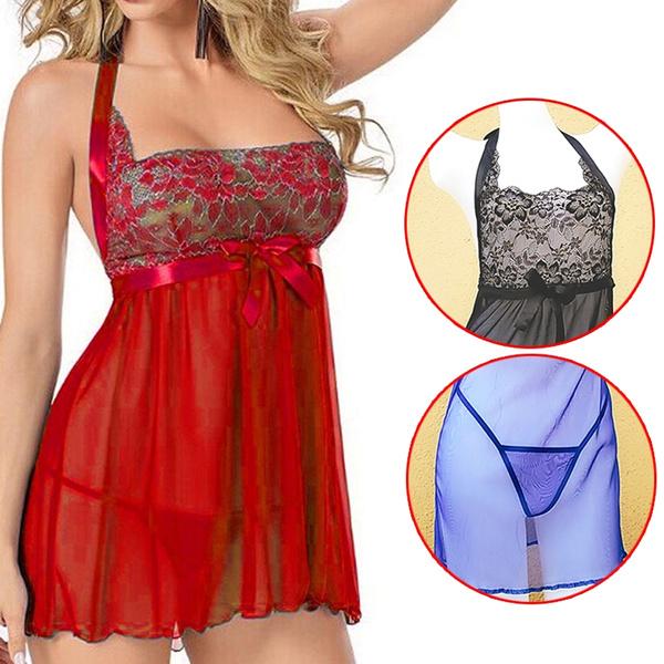 Underwear, Plus Size, Lace, Nightgown