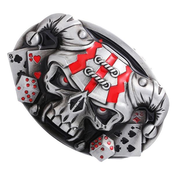 Mens Skull Biker Motorcycle Belt Buckle
