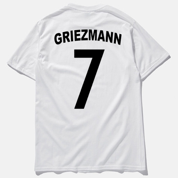 huge discount b8596 b0977 New Arrival #7 Antoine Griezmann Football Jersey T Shirt Men Letter Print  T-shirt Cotton Cusual Soccer T Shirts