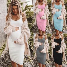 Summer, Plus Size, pregnant, long dress