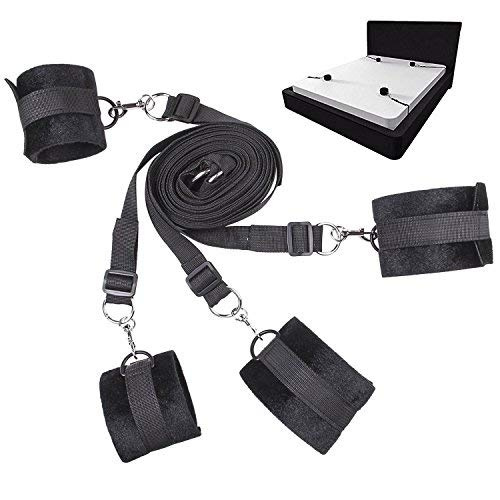Adjustable Sturdy Nylon Bed Set with Soft Cuffs for Wrist Ankle