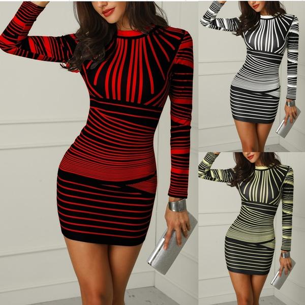 Sleeve, slim long, Long Sleeve, Dress