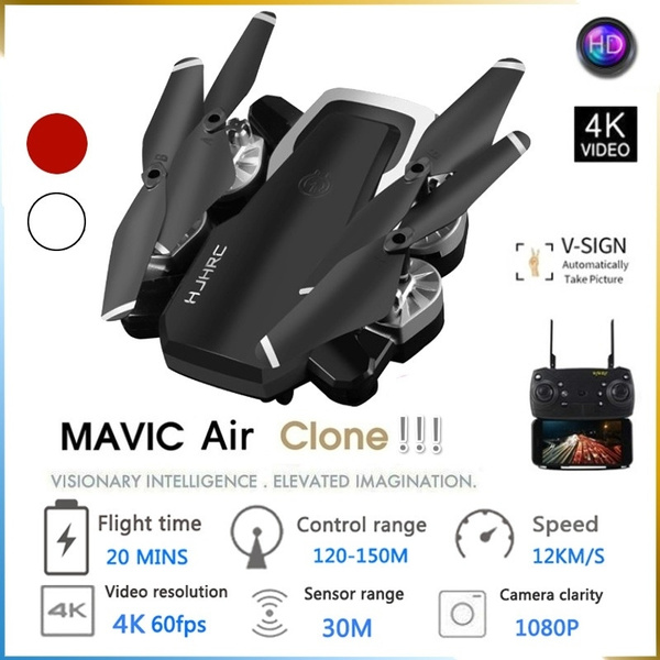 Mavic Air Clone! HJHRC HJ28 WIFI FPV 5MP wide-angle camera high-retention  mode collapsible quadcopter RC drone Quadcopter RTF Gift Toy Child
