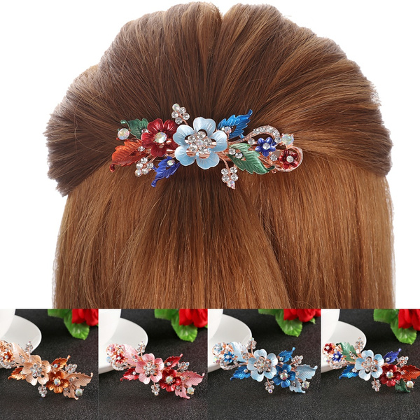 cute, Flowers, hairornament, Barrettes