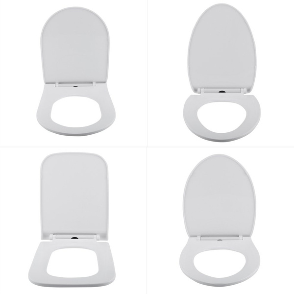 Awe Inspiring To Ultra Thin Soft Close Replacement Universal Toilet Seat Lid Cover Set White Household 4 Types Square U V O Shape In Machost Co Dining Chair Design Ideas Machostcouk