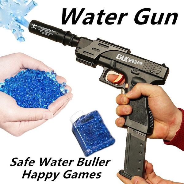 Outdoor CS Versus Kids Cap Pistol Safe Peashooter Children's Gift Water  Gell Simulates