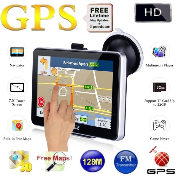 Win CE 6 0 7 inch Car GPS Navigation Navigator 704 7 inch Truck Car GPS  Navigation Navigator with Free Maps Win CE 6 0 / Touch Screen / E-book /  Video