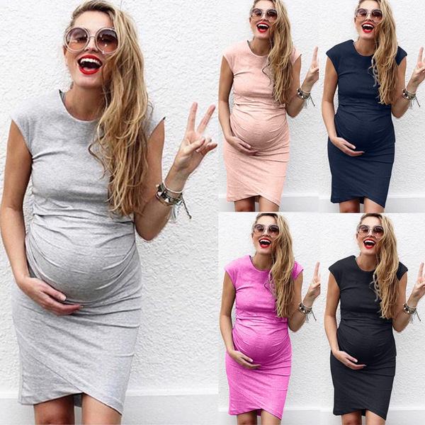 Maternity Dresses, Plus Size, Elastic, pregnant