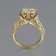 Antique, 18k gold, Anniversary Gift, wedding ring
