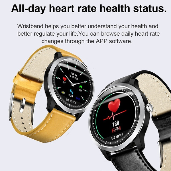 N58 Smartwatch ECG PPG Smart Watch Fitness Tracker with Electrocardiograph  Ecg Display Holter Ecg Heart Rate Monitor Blood Pressure Smartwatch for ios