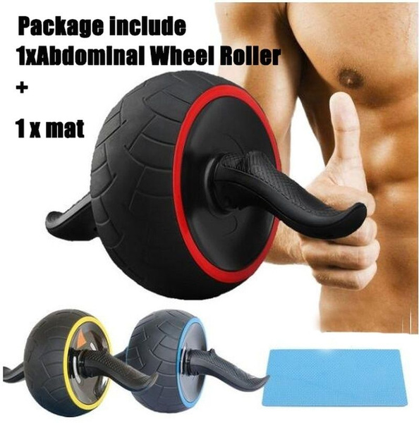 Double-wheeled Abdominal Body Muscle Exerciser Roller Gym Fitness Equipment MG