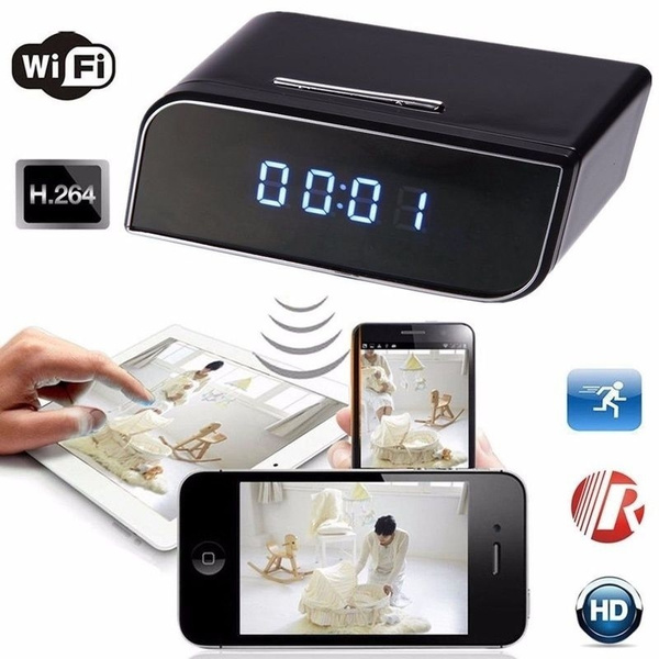 HD 1080P Wireless Wifi IP Spy Hidden Camera IR Cam Motion Security Alarm Clock H