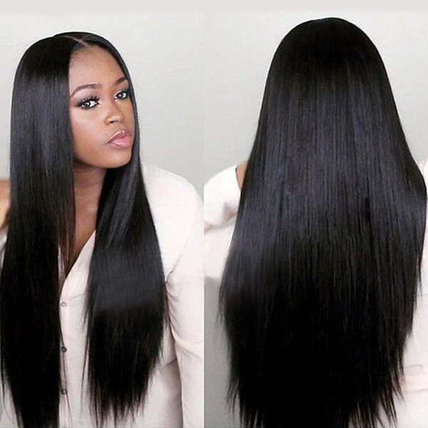 Fashion Hair Straight Hair Wigs African Wig Natural Color Wigs Ladies Long Straight Synthetic Hair Cosplay Anime Full Black Wigs Natural Black Hair