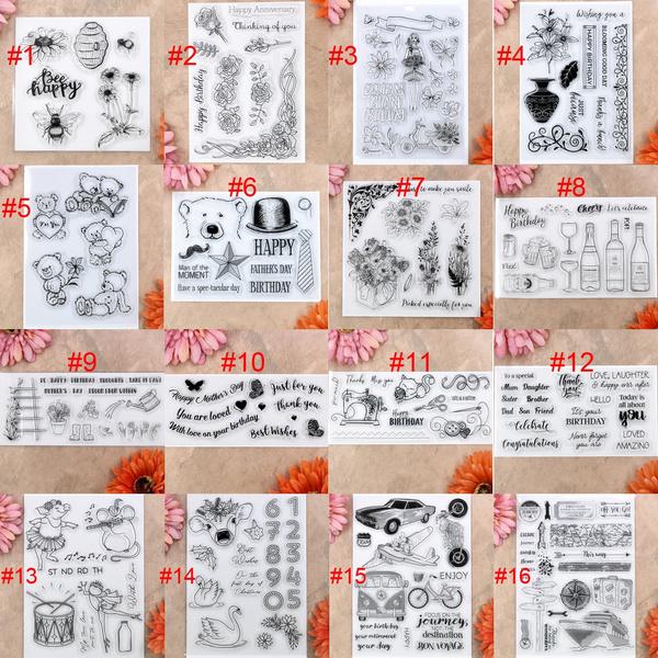 happybirthday, Flowers, scrapbookingamppapercraft, rubberstamp