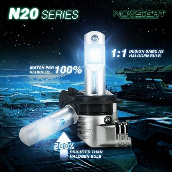Novsight 10000LM Car LED Headlight Kit H11 H8 H9 6500K Bulbs Lamp Low Beam White